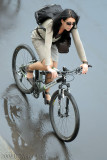 girl riding cannondale