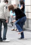 when the heel gets stuck.... ;)