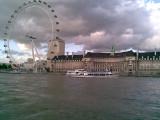 London eye from river
