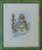 Snowman with broom 882H Abrams Sale650 Rent 17.50 20x24 Watercolor.jpg