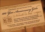 KCBS Radio and the Palace Hotel 100 Year Anniversary Gala 11-13-09