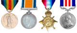 Victory Medal, British War Medal, 1914 Star, Military Medal