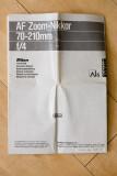 AF Zoom-Nikkor 70-210mm F/4 Manual