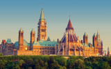 Canadian Parliament At Sunset 16089