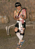 Zeme musician, North Cachar Hills, Assam, India