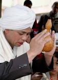 Prayers accompany the ritual