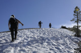 Hiking on the snow