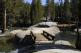 Crossing the Lyell Fork