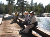 At the Lyell Fork Crossing