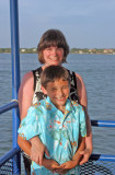 Mother - Son moment on the sunset cruise