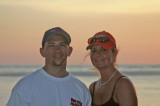 Michael & Laura on sunset cruise