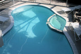 Calle Miramar pool from deck above...