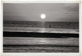 Sunset Cruise - bw