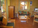 Lounge taken from sleeping area glass  front door on left