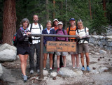 Up Mt. Whitney Thursday morning - Bonnie, Scott, Steph, Tim, Mary, Nikki, Lisa