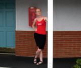 Megan strikes a pose
