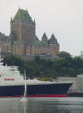 Last visit at Quebec - Queen Elizabeth 2  /      Château Frontenac / Port de of Québec  Passagers 1,892