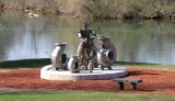 Goulds sculpture in the spring...