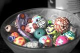 bowl of colorful beads...