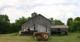 barn with tractors..