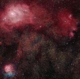 Lagoon and Triffid Nebulas