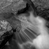 Running Water - B&W