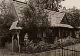 and wooden highlander`s cabin