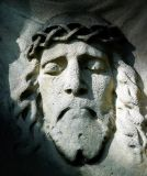 Jesus stone face from the shawl of st. Veronique
