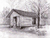 Grist Mill Drawing