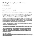 Backflow Devices Proposed in Florida