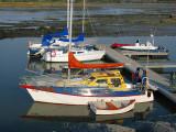bateaux à voile à la marina du Bic