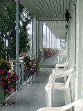 l'hotel  Parasol par un petit matin de brume