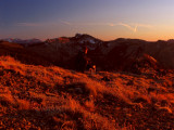 Kelly and I enjoy a December sunset along Big Ridge