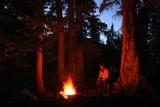 Evening fire at days end
