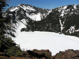 Cliff lake from Pk 7160