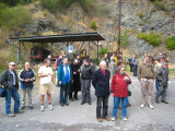 Hans-Georg and Irmgard Schmidt among others outside the mining complex