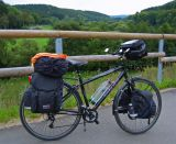 111  Monique - Touring through Germany - Trek 7.2 WSD touring bike
