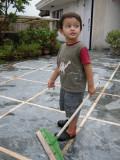 Terrace sweeper