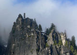 Crags and blue sky