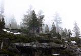 Foggy ridge
