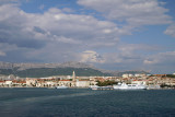 Arriving in Split by ferry