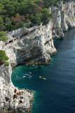 Dugi Otok - cliffs and kayaks