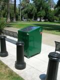 Solar Powered Recycling Bin