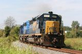 My last decent shot of this train. It met WB Q244, so I chased that one back to Evansville