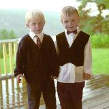 Frank-Olav and Andreas at Birthday party Bakke