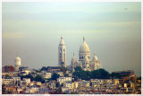 Sacre Cour from Eiffel Tower