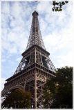 Eiffel Tower from Sidewalk