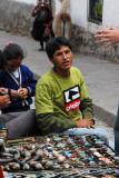 Roadside vendor of tourist trinkets, San Blas