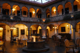 The Novotel Cusco's colonial courtyard