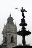Fountain (1650) Plaza de Armas, Lima
